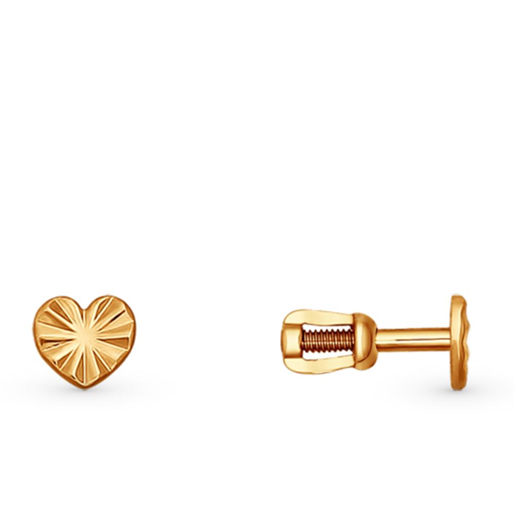 золотые серьги SOKOLOV 022575*