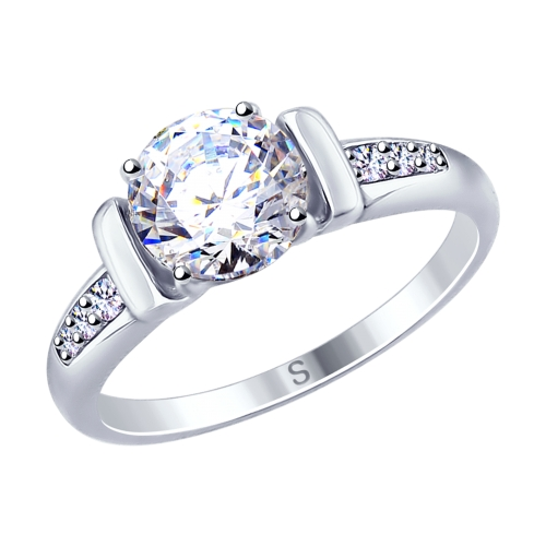 Фото «Серебряное кольцо с фианитами SOKOLOV 94012674»