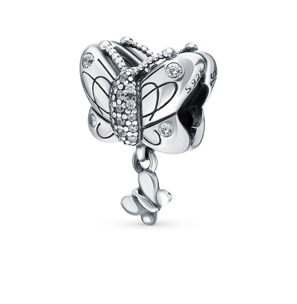 серебряная подвеска с фианитами
