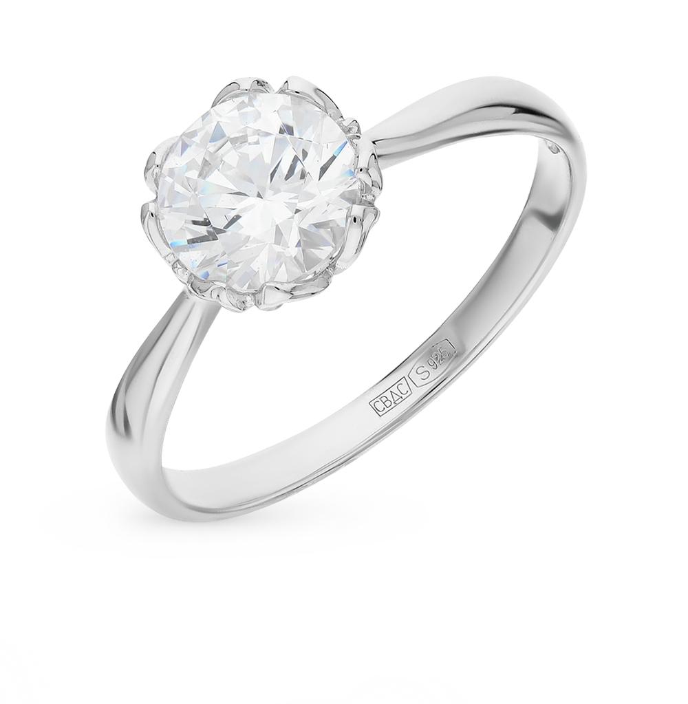 серебряное кольцо с фианитами SOKOLOV 89010034