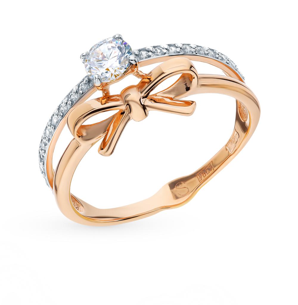 Фото «Золотое кольцо с фианитами SOKOLOV 017744*»