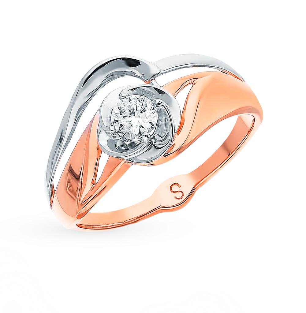 Фото «Золотое кольцо с фианитами SOKOLOV 017916*»