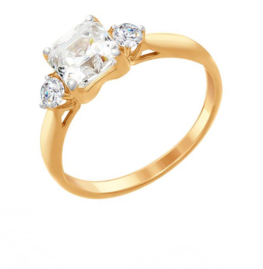 Фото «Серебряное кольцо с фианитами SOKOLOV 89010101»