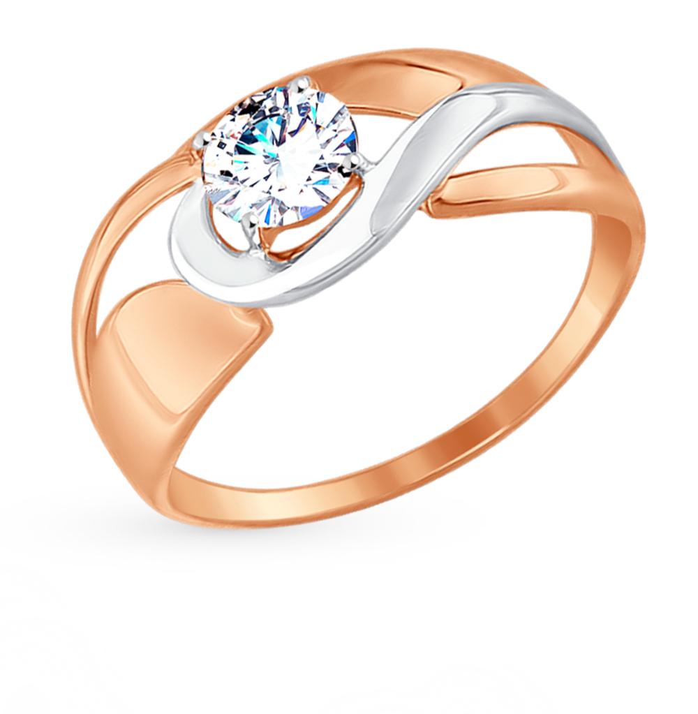Фото «Золотое кольцо с фианитами SOKOLOV 017479*»