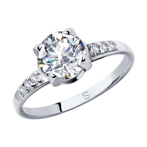 Фото «Серебряное кольцо с фианитами SOKOLOV 89010118»