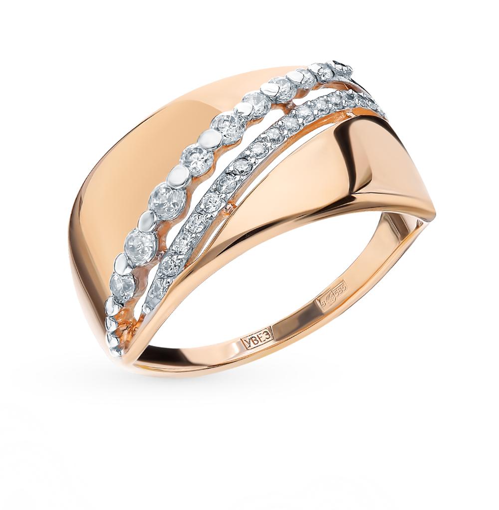 золотое кольцо с фианитами SOKOLOV 017673*