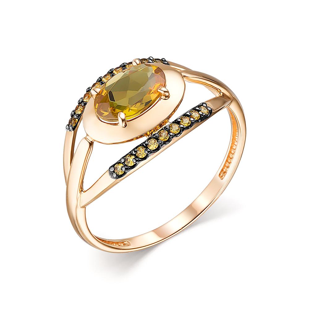 Фото «Золотое кольцо с султанитами, цитринами и наношпинелями»