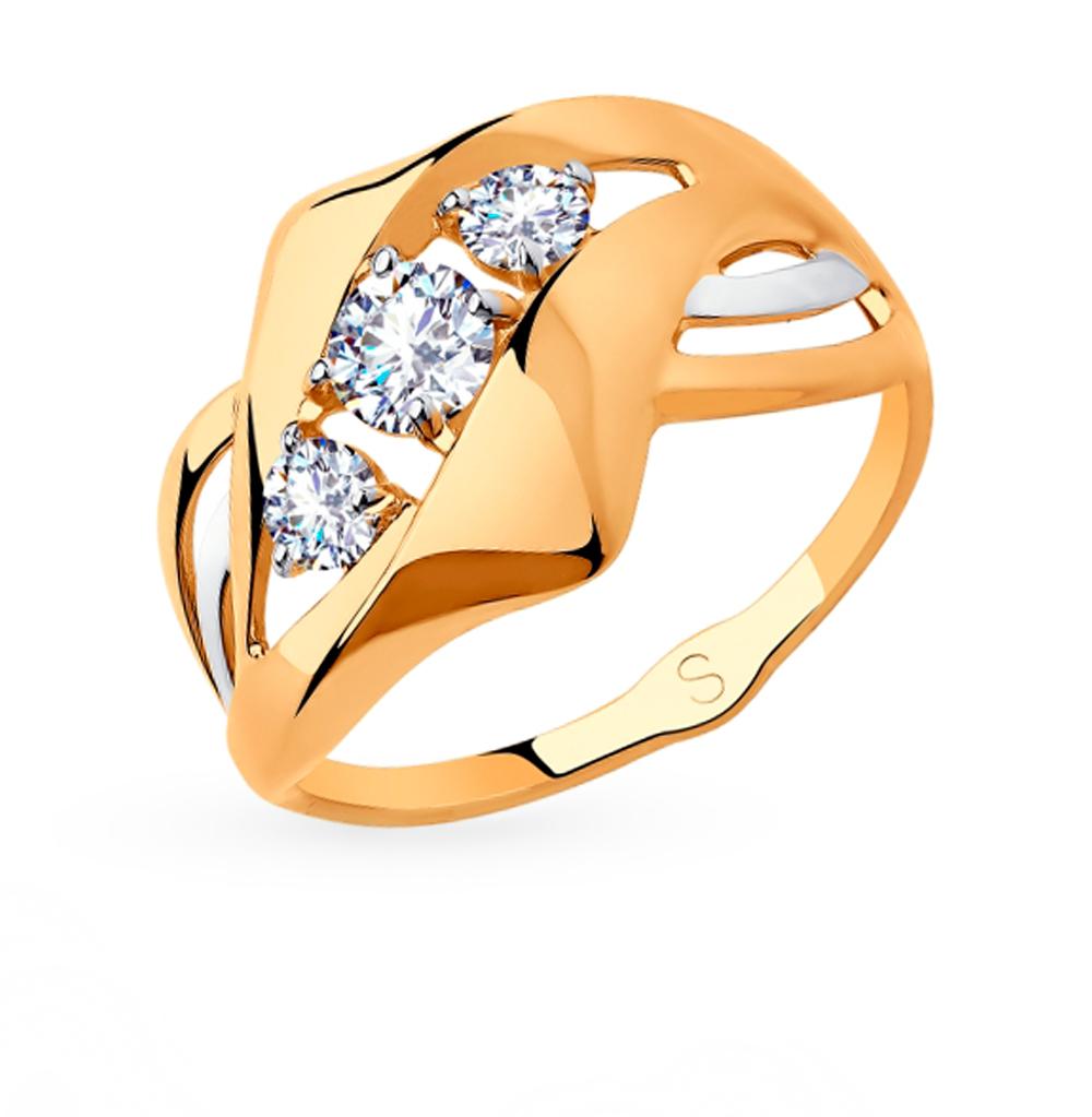 Золотое кольцо с фианитами SOKOLOV 018228 в Екатеринбурге