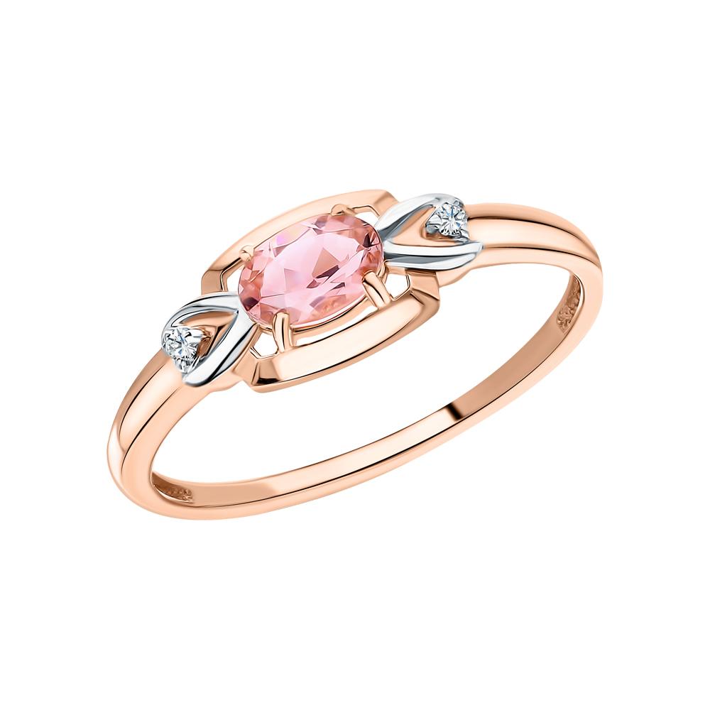 Золотое кольцо с фианитами и наноситаллами в Екатеринбурге