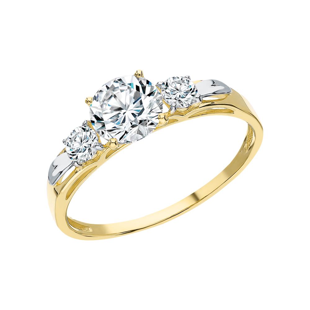 Фото «Золотое кольцо с фианитами SOKOLOV 81010194-2*»