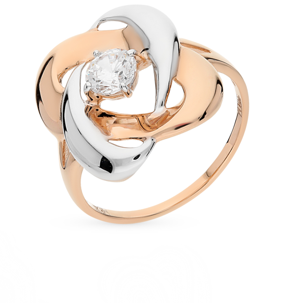 золотое кольцо с фианитами SOKOLOV 016863*
