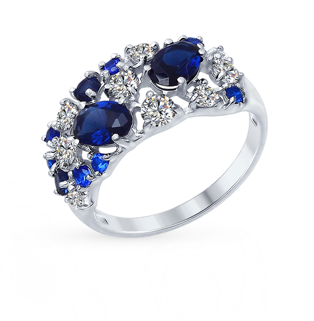 Серебряное кольцо с фианитами SOKOLOV 94012300 в Екатеринбурге