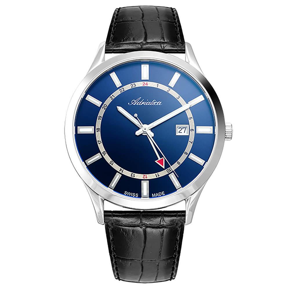 Фото «Мужские часы A8289.5215Q на кожаном ремешке с минеральным стеклом»