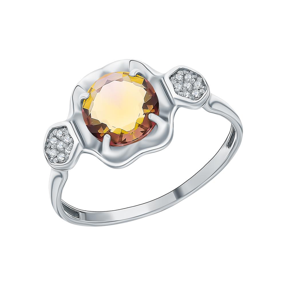 Фото «Серебряное кольцо с аметрином и фианитами»