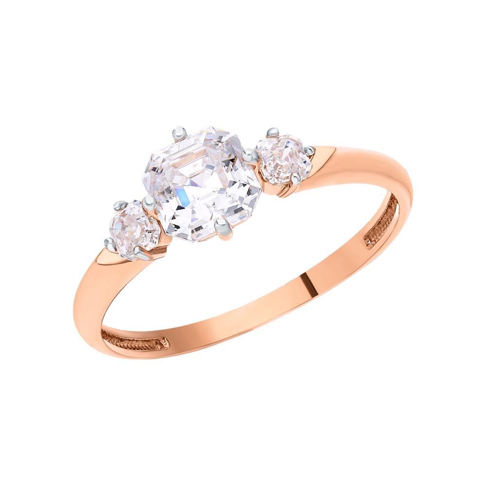 Фото «Золотое кольцо с фианитами swarovski»
