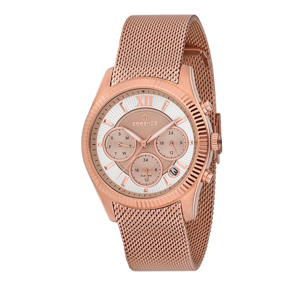 Женские часы ES6374FE.420 на стальном браслете с розовым PVD покрытием с минеральным стеклом в Екатеринбурге