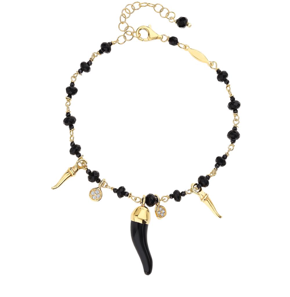 Фото «Серебряный браслет со шпинелью, фианитами и эмалью»