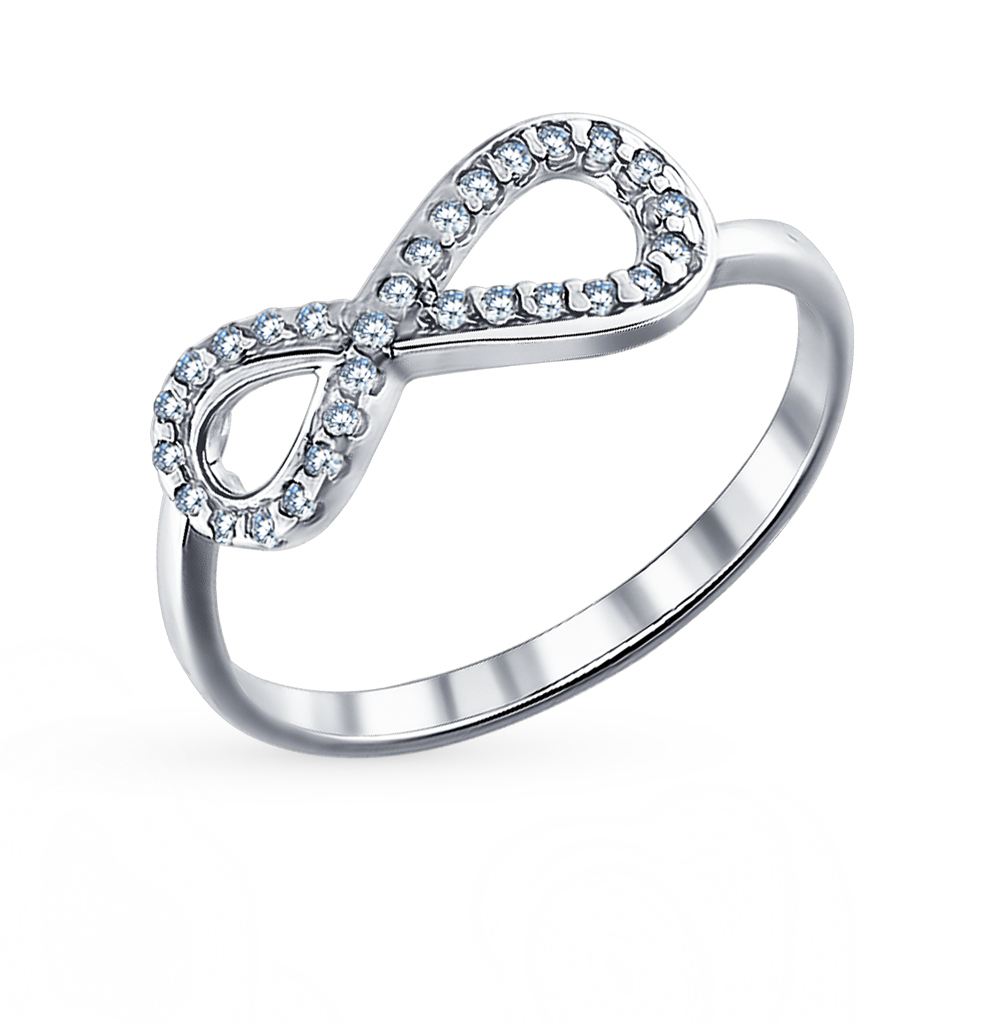 Фото «Серебряное кольцо с фианитами SOKOLOV 94011256»