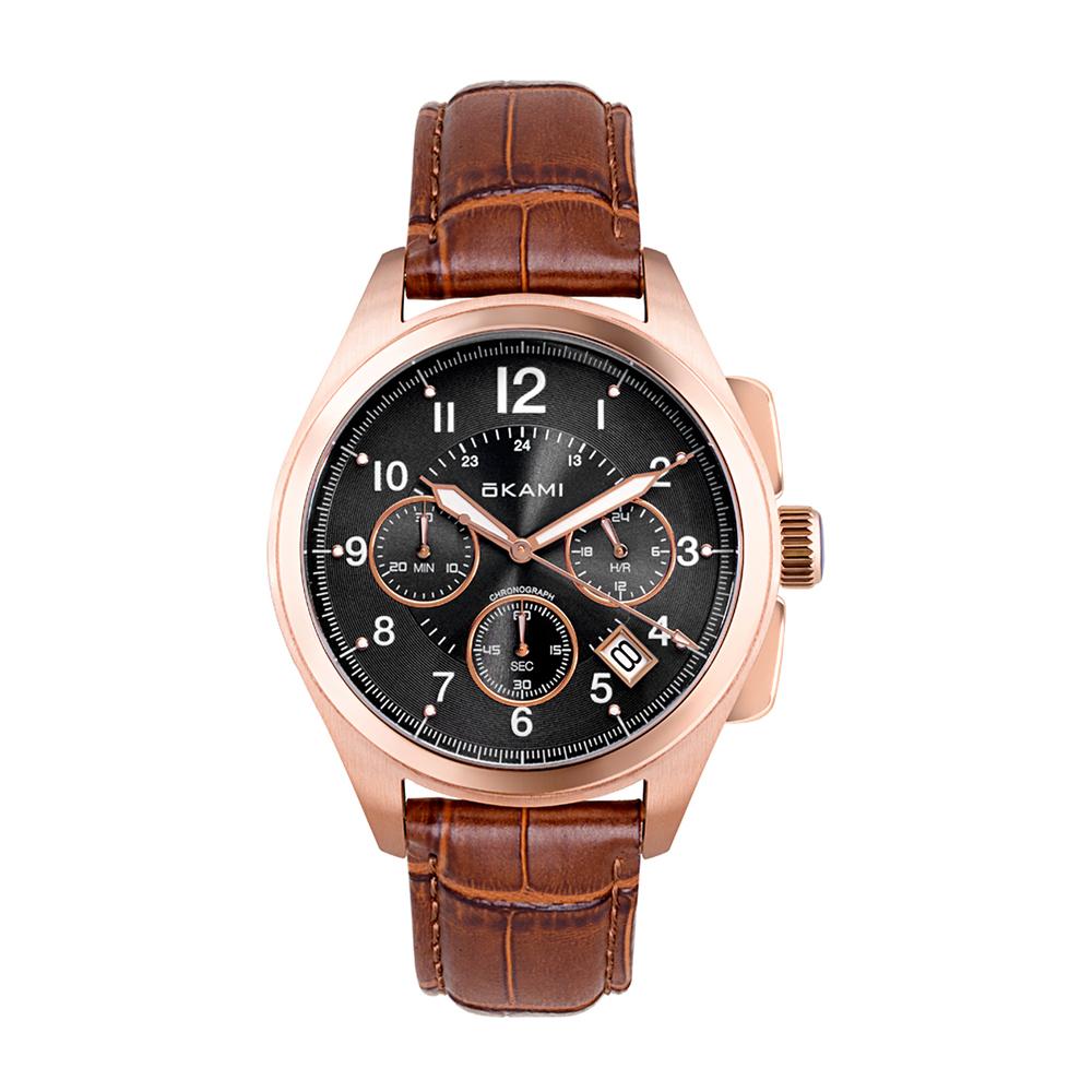 Мужские часы с хронографом на ремне из натуральной кожи в Санкт-Петербурге
