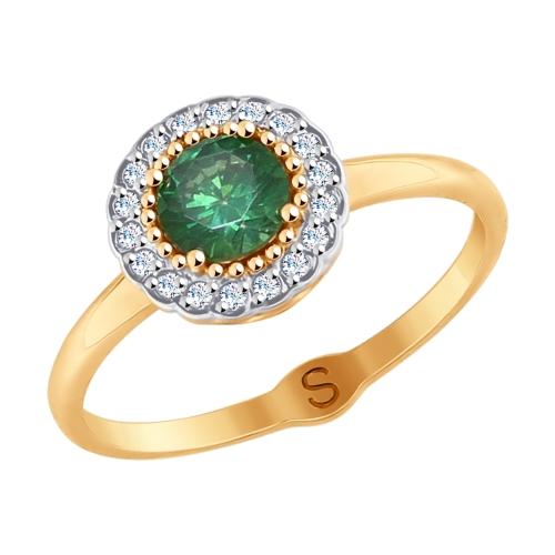 Фото «Золотое кольцо с фианитами SOKOLOV 017817*»