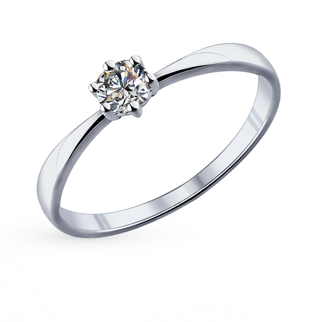 Серебряное кольцо с фианитами swarovski SOKOLOV 89010020 в Екатеринбурге