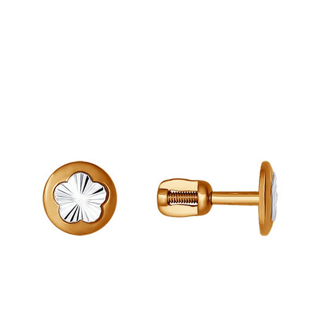 золотые серьги SOKOLOV 022364