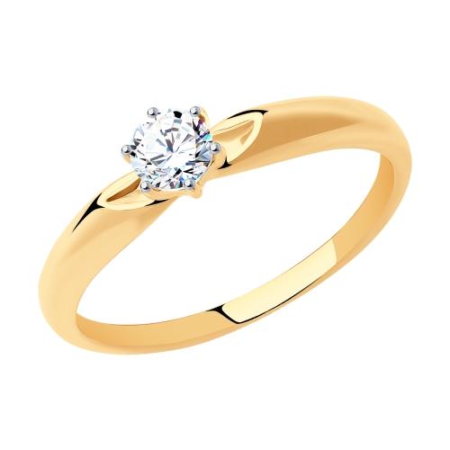 Золотое кольцо с фианитами SOKOLOV 81010214* в Санкт-Петербурге