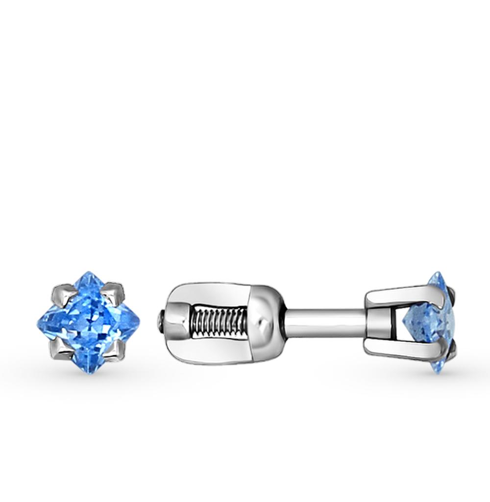 серебряные серьги с фианитами SOKOLOV 94020125
