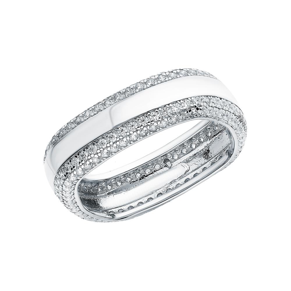 Фото «Серебряное кольцо с цирконием и кубическим цирконием»