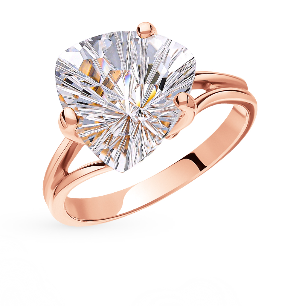 Золотое кольцо с горным хрусталем в Санкт-Петербурге