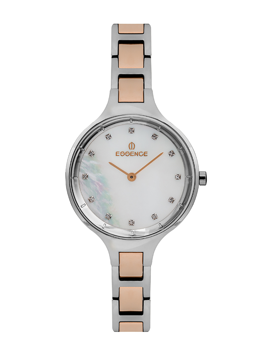 Женские часы ES6555FE.520 на стальном браслете с частичным розовым IP покрытием с минеральным стеклом