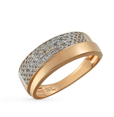 Фото «золотое кольцо с фианитами, изумрудами, ониксом и бриллиантами»