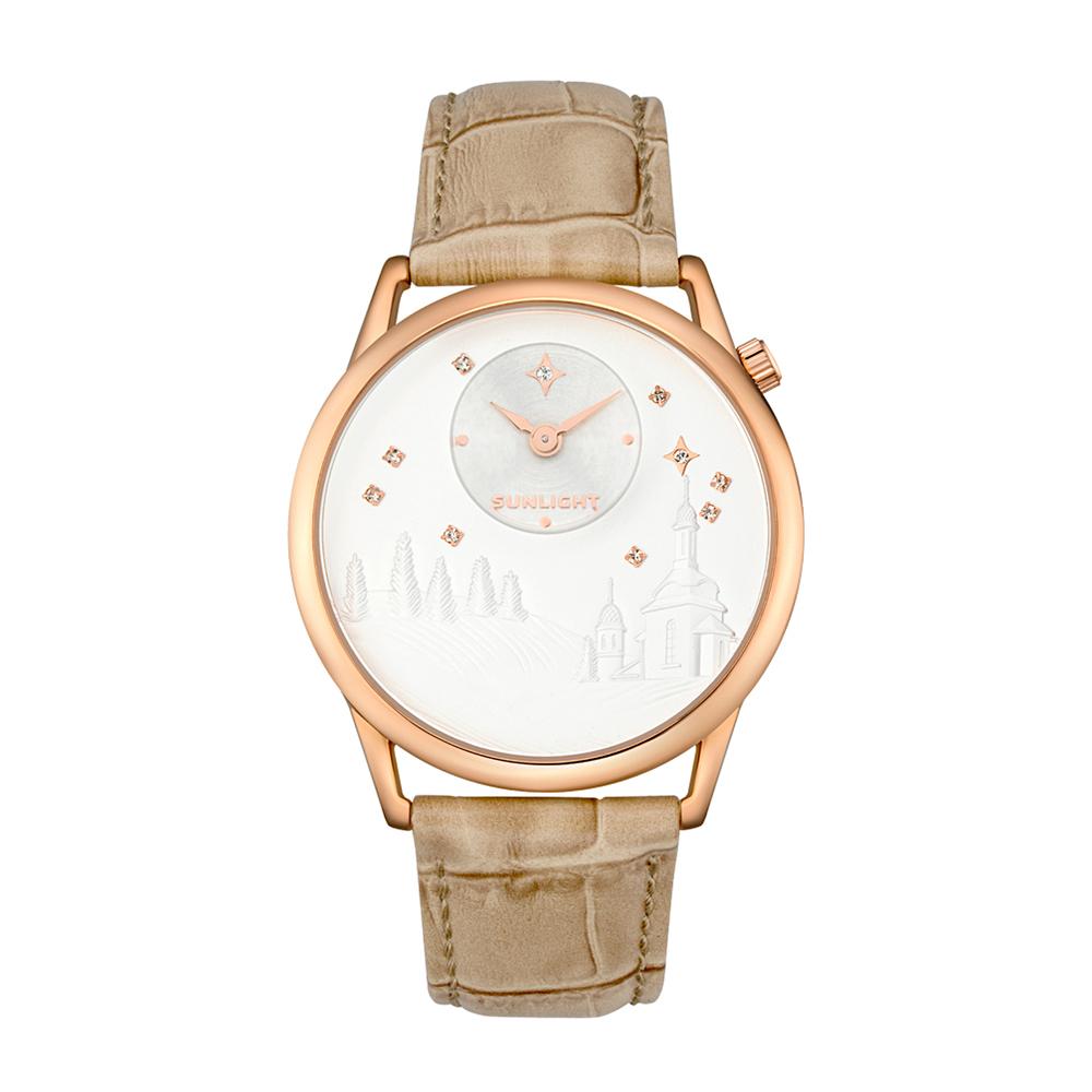 Женские часы с эмбоссированнием на кожаном ремне в Екатеринбурге