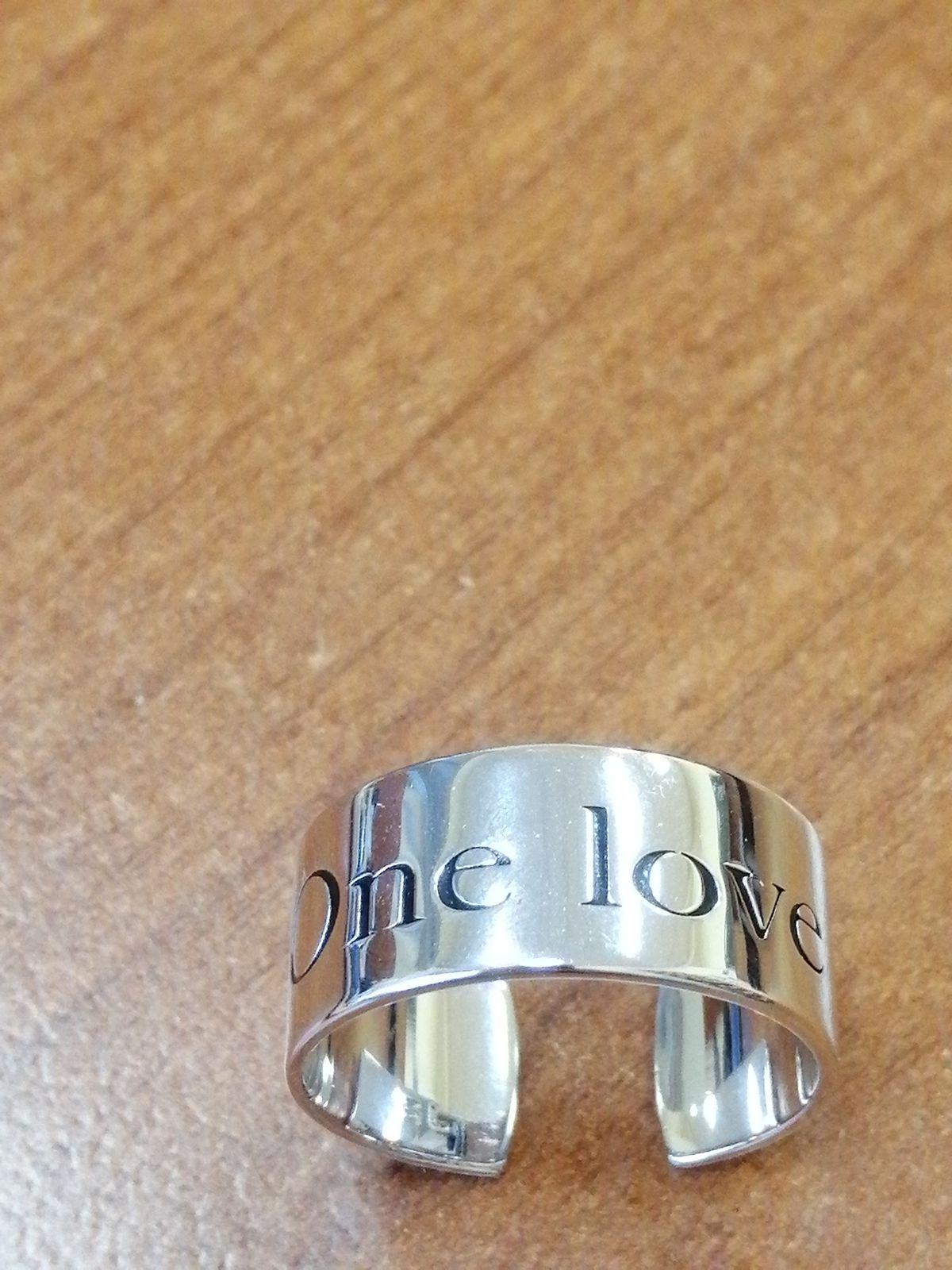 Серебряное кольцо с надписью