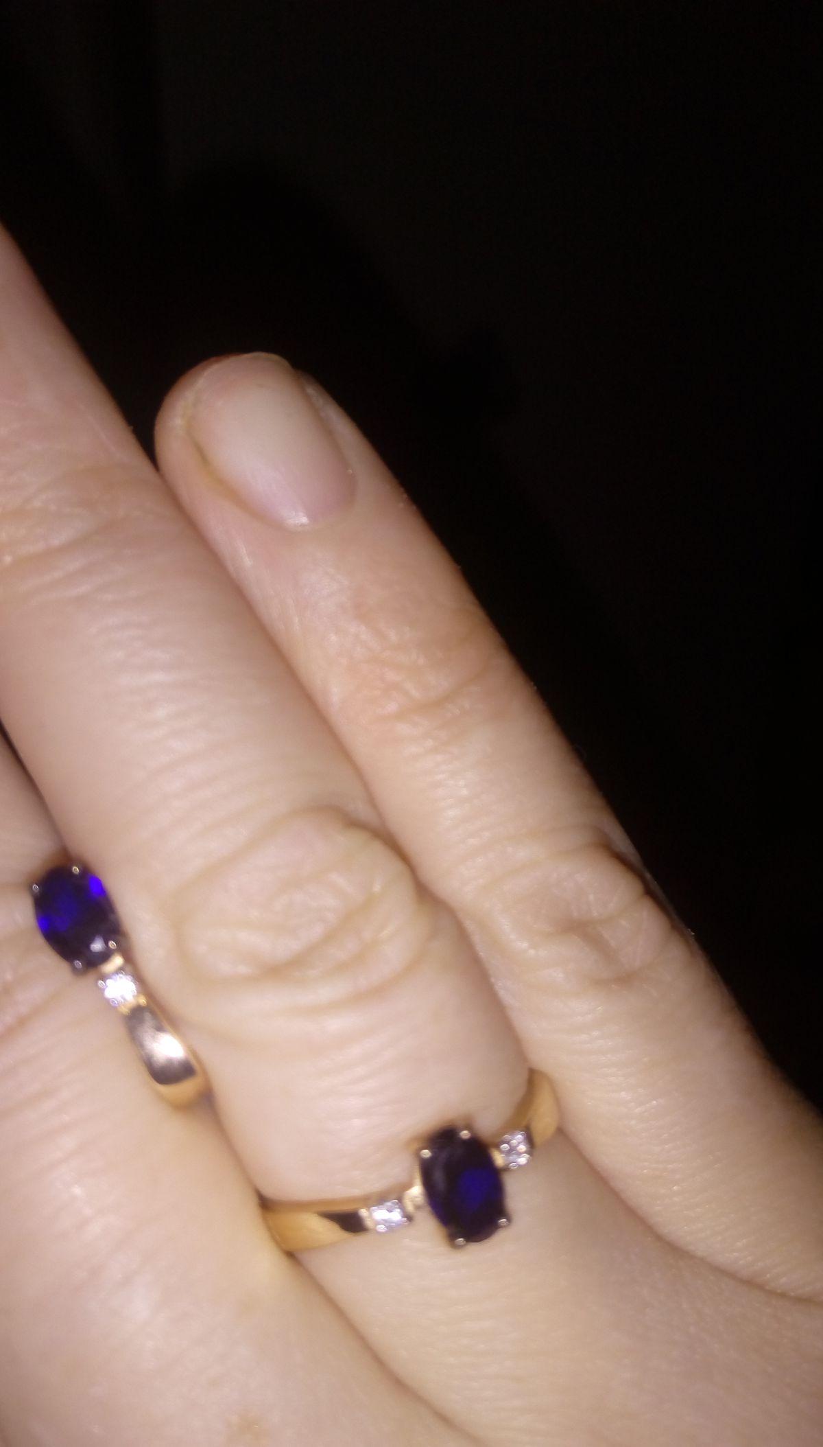 Сапфировое колечко самое любимое в моей ювелирной шкатулке