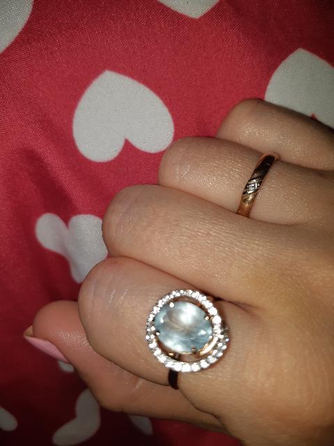 Шикарное кольцо с топазом