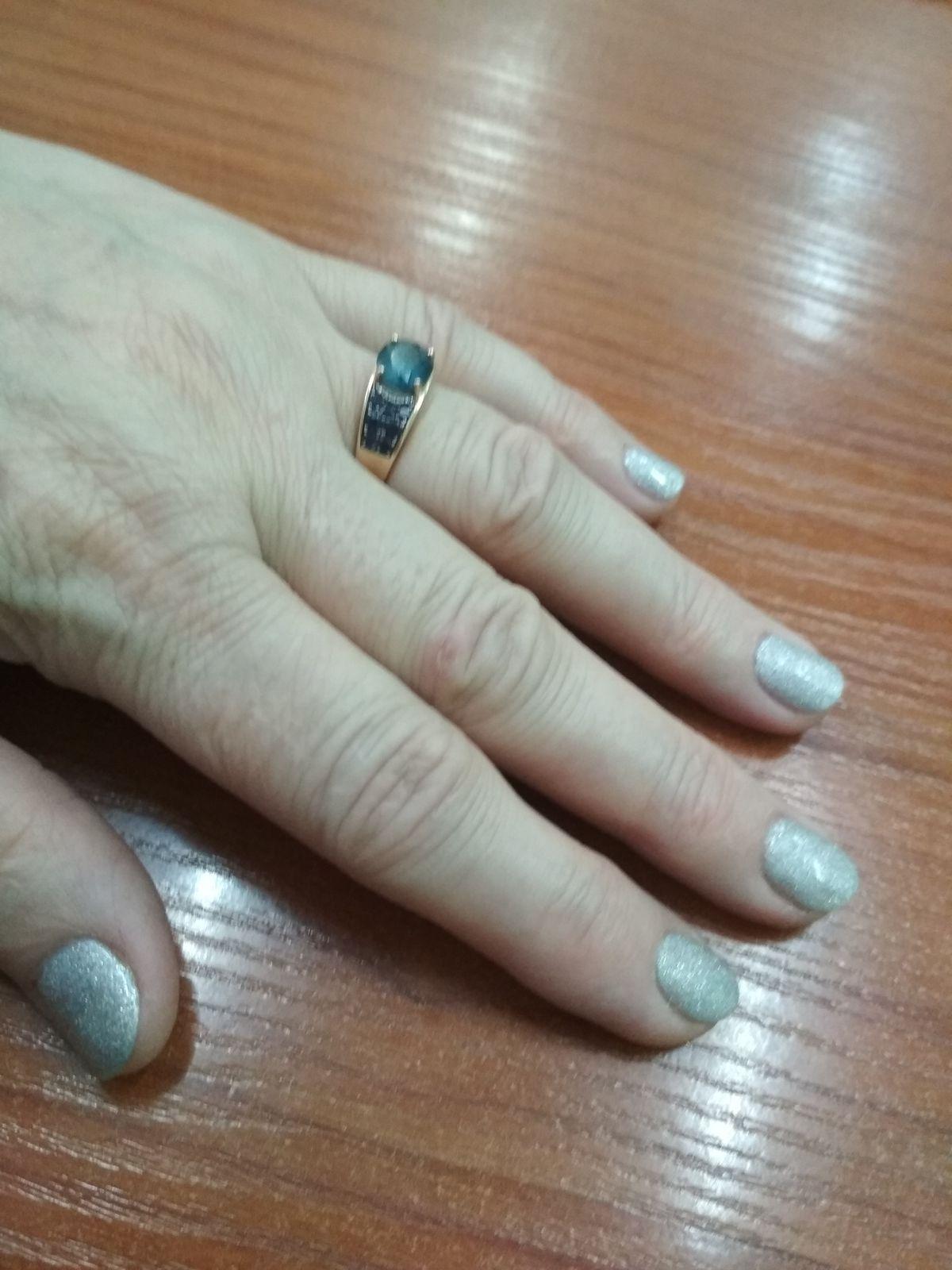 Кольцо с топазом.
