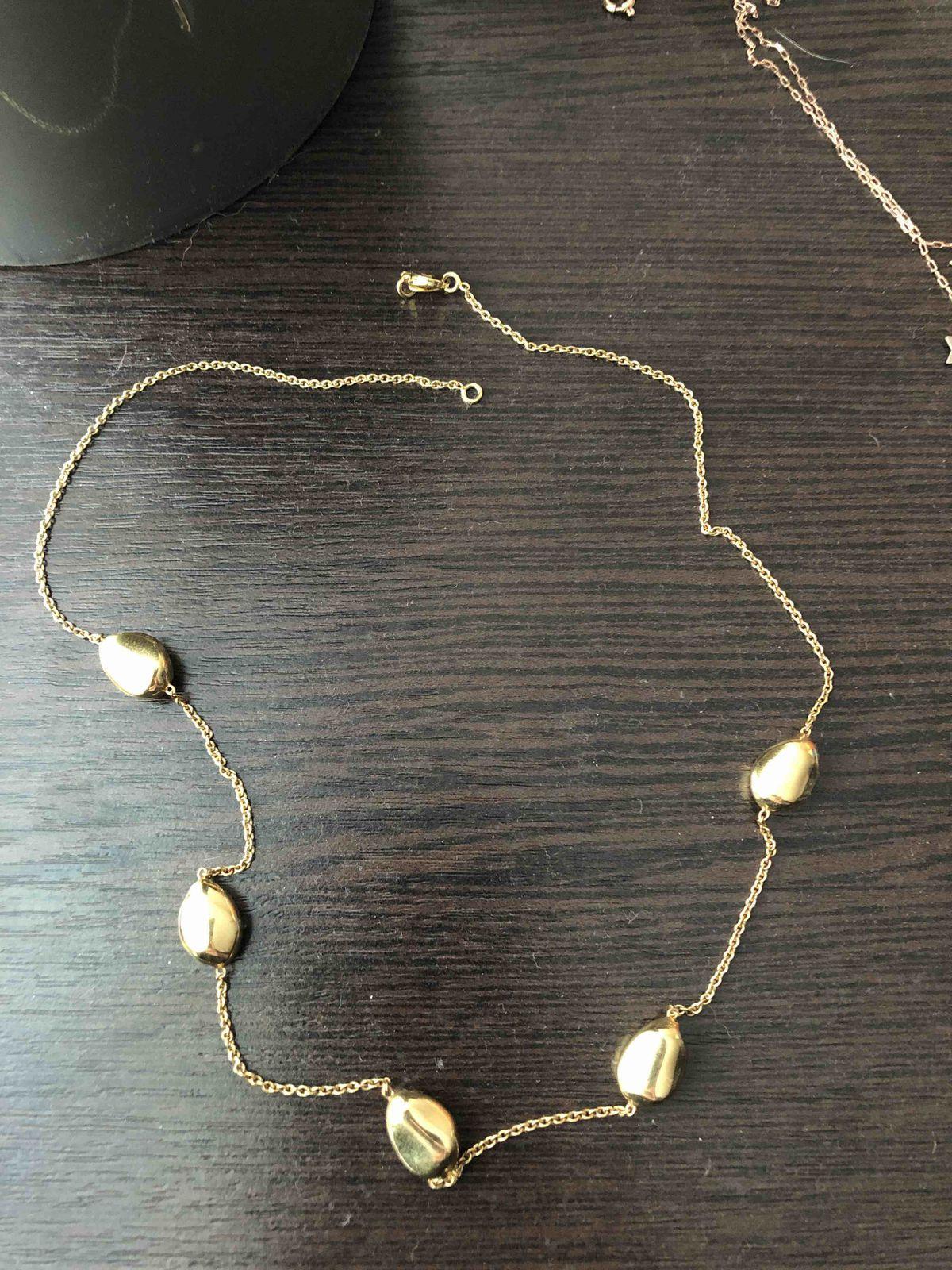 Ожерелье из позолоченного серебра