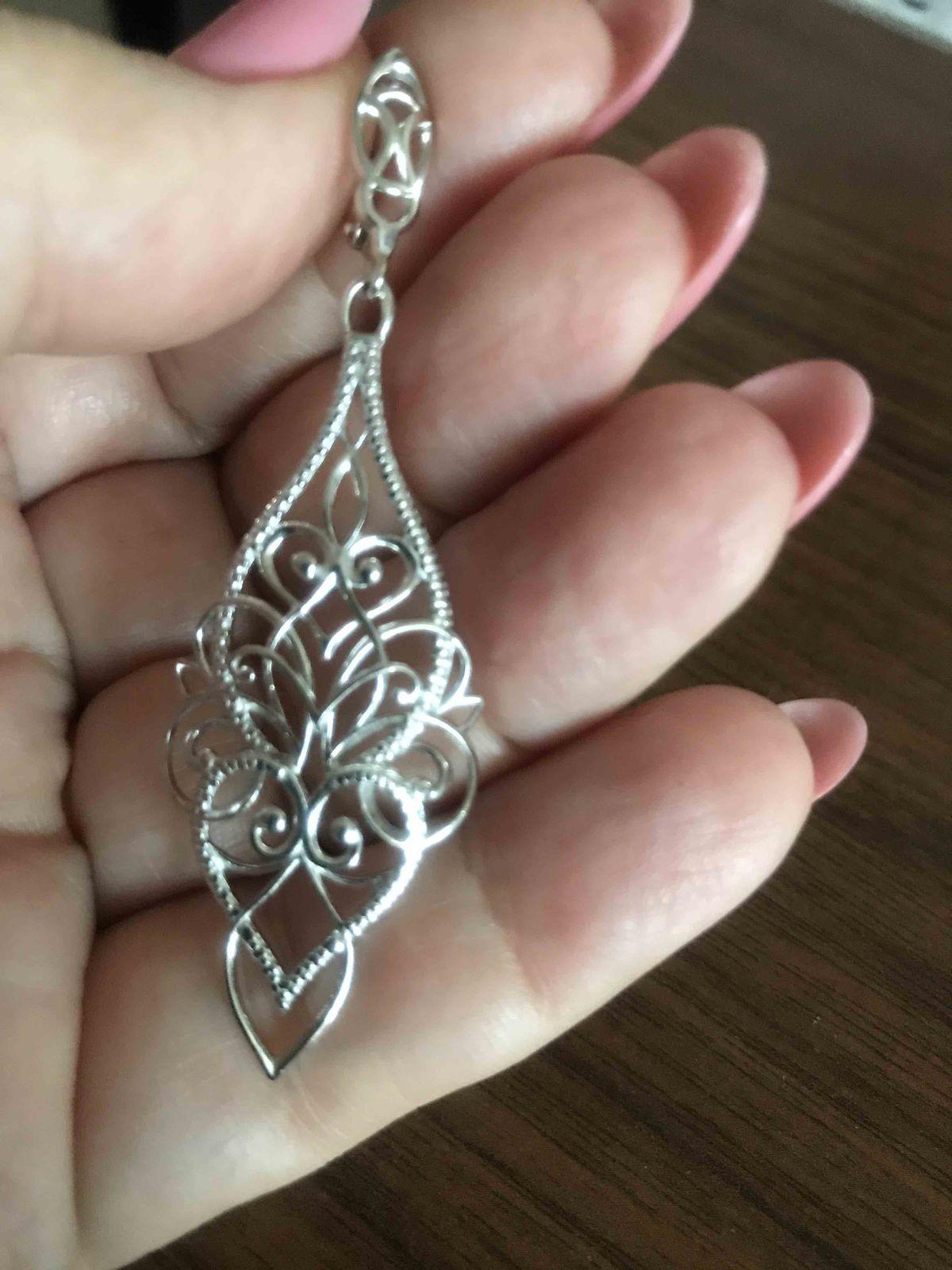 Ажурные серебряные серьги