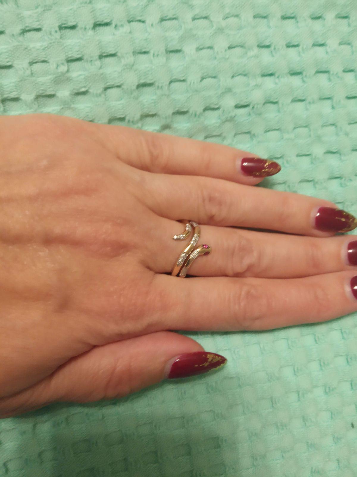 Золотое кольцо змейка