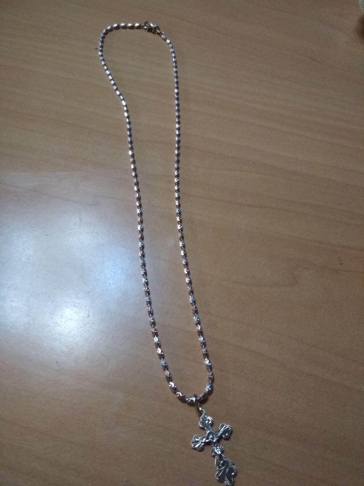Цепочка серебро с позолотой Италия