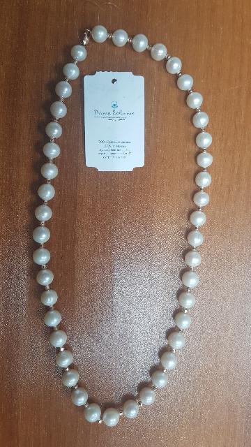 Жемчужное украшение с золотыми шариками