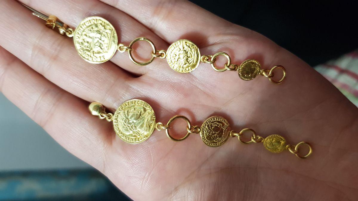 Серьги-монеты