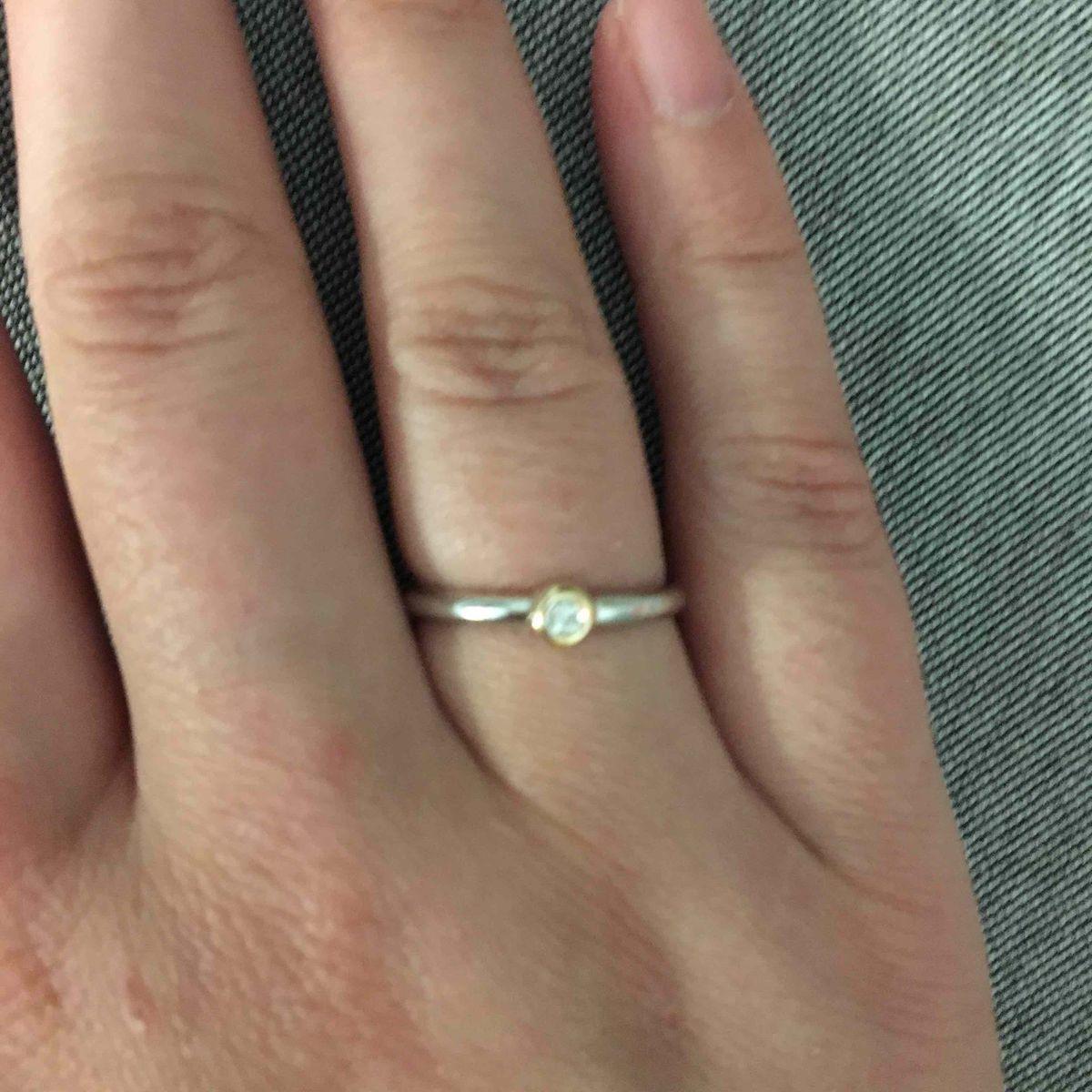 Кольцо серебро с бриллиантом