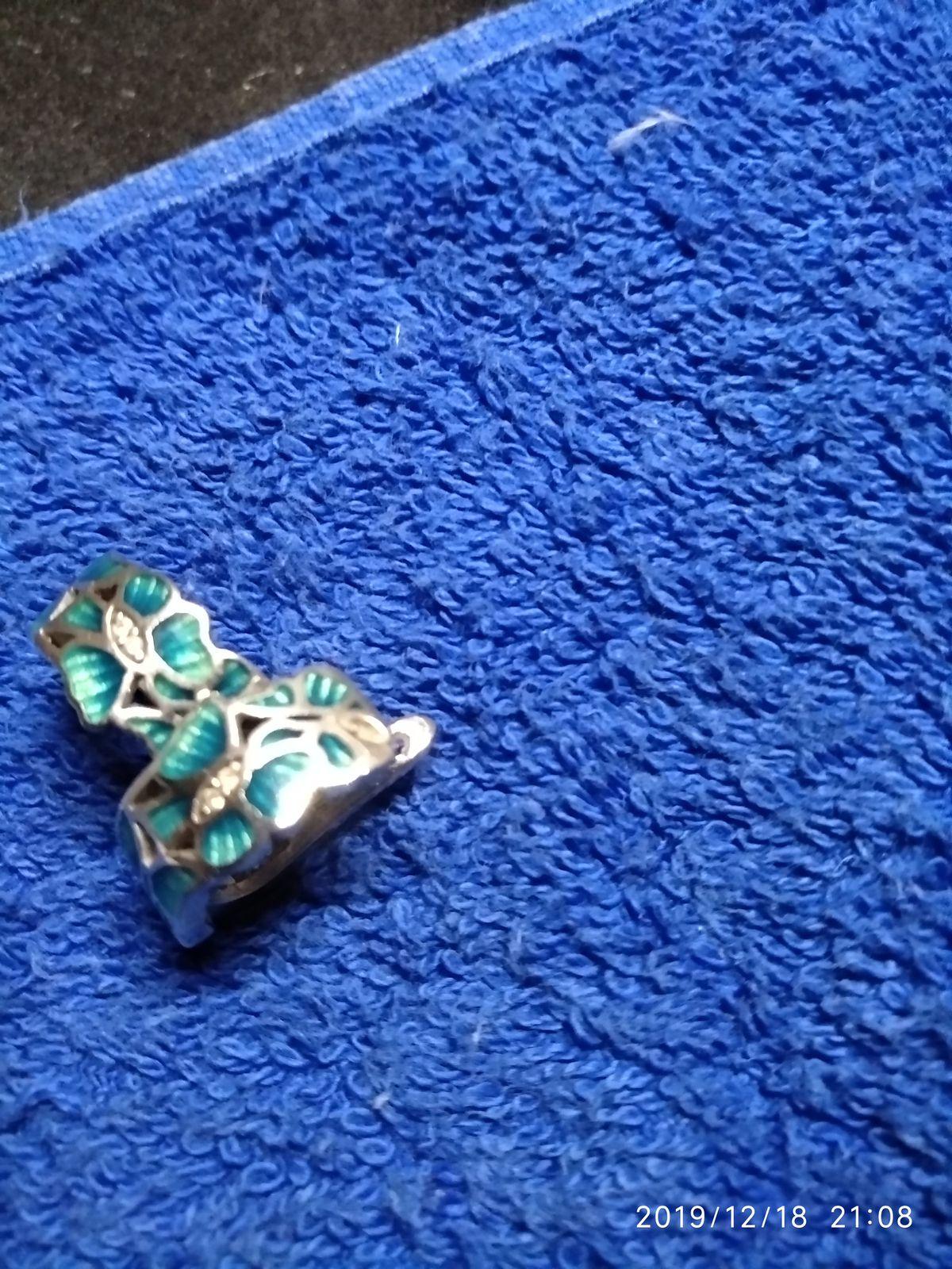 Серьги-бабочки с эмалью
