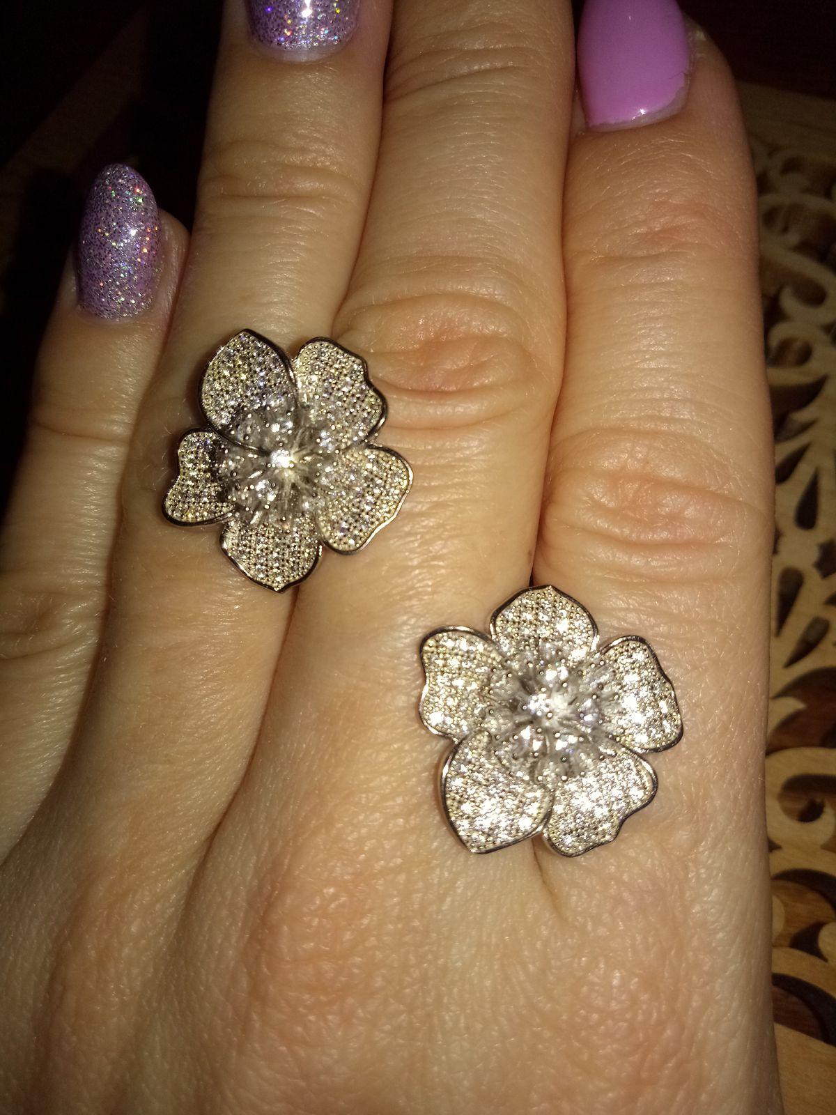 Серебряные цветы!
