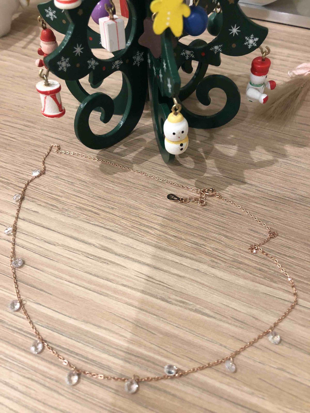 Ожерелье с фианитами