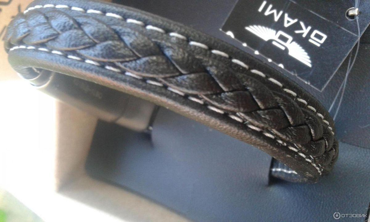 Кожаный браслет Okami-очень хороший молодёжный  подарок✔по доступной цене💓