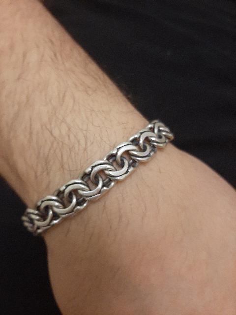 Муж.браслет серебро