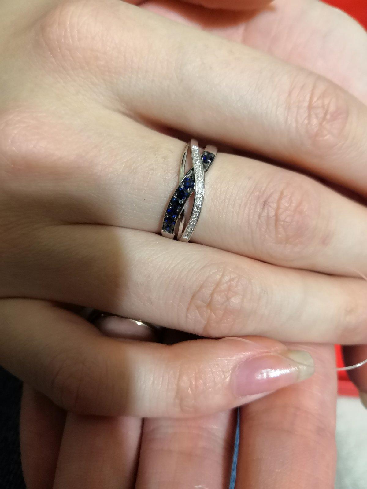 Кольцо из белого золота с фианитами и бриллиантами